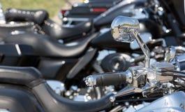 Motorcycle  handlebar Stock Image