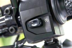 Motorcycle handlebar controls. Close up motorcycle handlebar controls Stock Photography