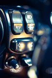 Motorcycle handlebar controls including turn Royalty Free Stock Photography
