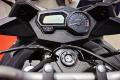 Motorcycle handlebar controls Stock Image