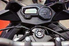 Motorcycle handlebar controls Stock Image