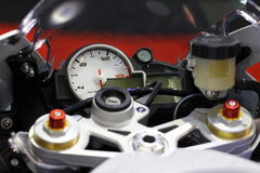 Motorcycle handlebar controls Stock Photo