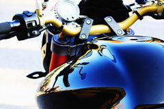 Motorcycle handlebar Royalty Free Stock Photography