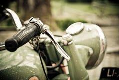 Motorcycle handlebars,. Detail of a motorcycle handlebars Stock Photography