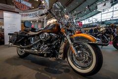 Motorcycle Harley-Davidson Heritage Softail, 2015. Royalty Free Stock Image