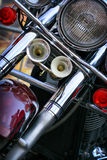 Motorcycle headlight Royalty Free Stock Photo