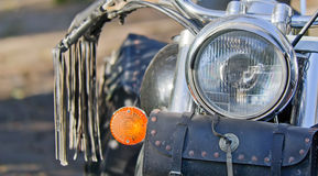 Motorcycle headlight Stock Photo