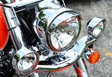 Harley Davidson Motorcycle Headlight Royalty Free Stock Photo