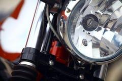 Motorcycle headlight Stock Photo