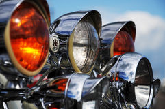 Motorcycle headlights Royalty Free Stock Image