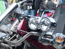 Motorcycle headlights. And indicators close up Stock Images