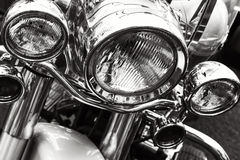 Motorcycle headlights Stock Photography