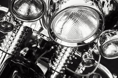 Motorcycle headlights Royalty Free Stock Photos