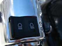 motorcycle-headlights-switch Stock Image