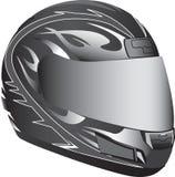 Motorcycle helmet. A motorcycle helmet in black and gray Royalty Free Stock Image