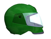 Motorcycle helmet. Computer image, motorcycle safety helmet 3D, isolated white background Royalty Free Stock Images