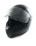Motorcycle helmet. Black, glossy motorcycle helmet, symbolizing extreme and safety Stock Image