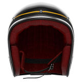 Motorcycle helmet black carbon front Royalty Free Stock Photography