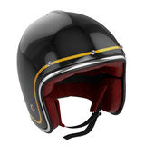 Motorcycle helmet black carbon modern Stock Photos