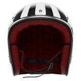 Motorcycle helmet black white front view Royalty Free Stock Photos
