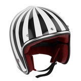 Motorcycle helmet black white modern Royalty Free Stock Photos