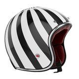 Motorcycle helmet black white. Striped. Helmet modern style stock illustration