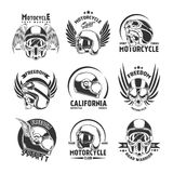 Motorcycle Helmet Design Elements Set Royalty Free Stock Photography