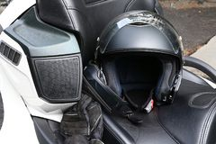 Motorcycle helmet is an important protective clothing for motorcycling Royalty Free Stock Photography