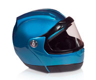 Motorcycle helmet light blue Royalty Free Stock Photos