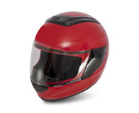 Motorcycle Helmet. Modern motorcycle helmet.  on a white background Stock Photo