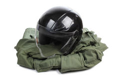 Motorcycle helmet one Royalty Free Stock Photos