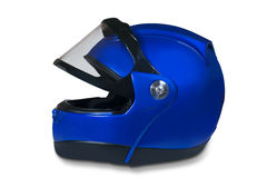 Motorcycle helmet with a raised glass Royalty Free Stock Photos