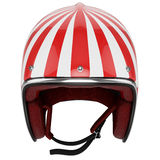 Motorcycle helmet red white classic Royalty Free Stock Photos