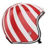 Motorcycle helmet red white left view Stock Photo