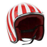 Motorcycle helmet red white Royalty Free Stock Photos
