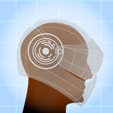 Motorcycle Helmet security human head concept  Royalty Free Stock Images