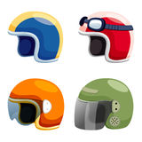 Motorcycle helmet set Stock Image