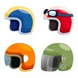 Motorcycle helmet set. On white Stock Image