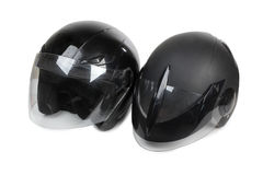 Motorcycle helmet three Stock Images