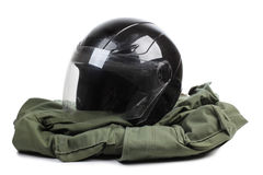 Motorcycle helmet two Stock Image