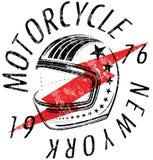 Motorcycle Helmet Typography New York Sports Club. Art fashion Stock Photo