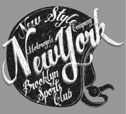 Motorcycle Helmet Typography New York Sports Club. Fashion style Stock Photo