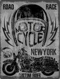 Motorcycle Helmet Typography New York Sports Club. Fashion style vector illustration