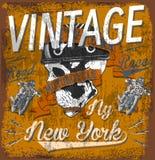 Motorcycle Helmet Typography New York Sports Club. Fashion style stock illustration