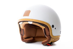 Motorcycle helmet. On white background Stock Images