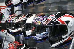 Motorcycle helmets Royalty Free Stock Images
