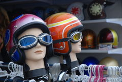 Motorcycle helmets Stock Image