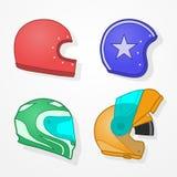 Motorcycle helmets Stock Photography