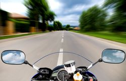 Motorcycle at high speed Royalty Free Stock Images
