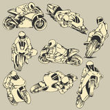 Motorcycle High Speed Action Stock Image
